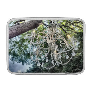 Shabby Chic White Crystal Chandelier Sleeve For MacBook Air