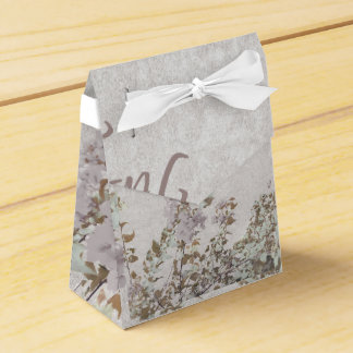 Shabby Chic With Quote Wedding Favor Box