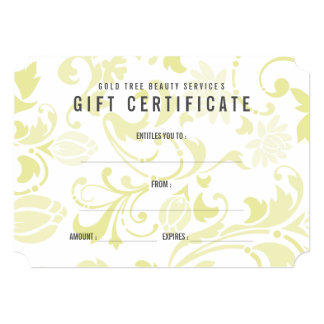 Shabby Chic Yellow Floral Gift Certificate Card