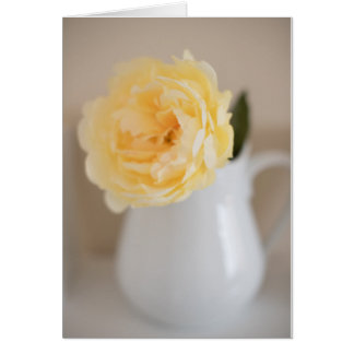 Shabby Chic Yellow Flower and Pitcher Card