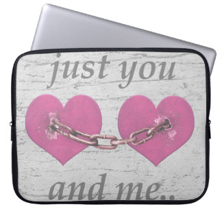 Shabby Chich Love Concept Poster Laptop Sleeve