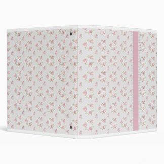 Shabby Cottage Sweet Pink Rosebud Binder