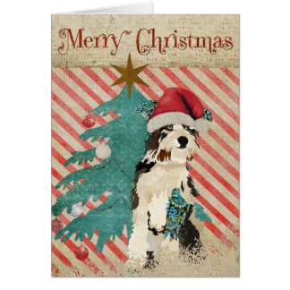 Shabby Dog Christmas Card