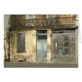 Shabby French house birthday card
