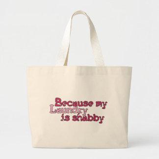 shabby laundry large tote bag