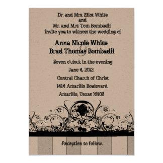 Shabby Old West Wedding Invitation