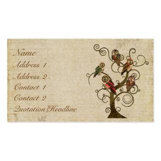 Shabby Owl Tree Business Card/Tags Business Card