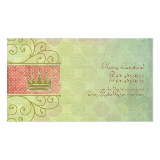 Shabby Princess Business Cards