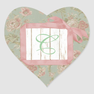 Shabby Roses Monogram Stickers