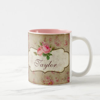 Shabby Roses Personalized Mug