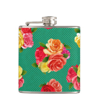 Shabby Vintage Floral Flask