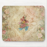 Shabby Vintage Floral Mousepad