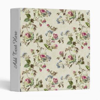SHABBYCHIC English Rose floral pattern vintage Binders