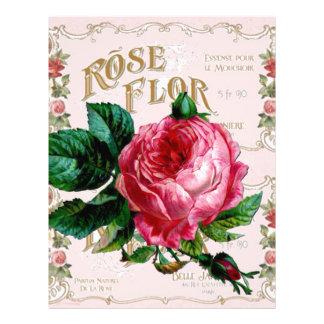 SHABBYCHIC English Rose vintage pink Customized Letterhead