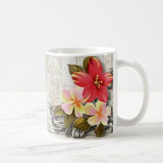ShabbyChic Hawaii Floral Beach Wedding Favor Mug