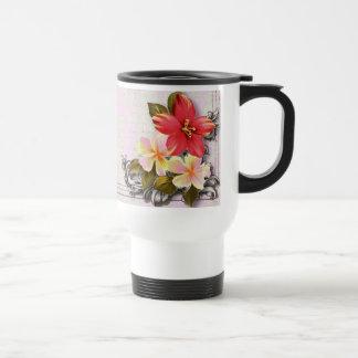 ShabbyChic Hawaii Floral Beach Wedding Favor 15 Oz Stainless Steel Travel Mug