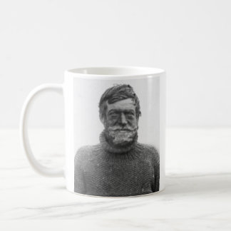"Shackleton mug - picture and ""Optimism"" quote"