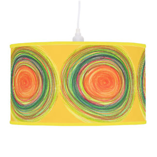 Shade | Abstract Vibrant Sun Drawing Pendant Lamp