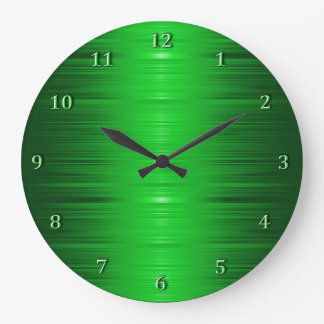 Shaded Emerald Green Wall Clock
