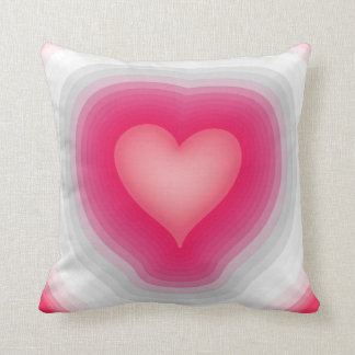 Shaded Layered Heart Design Throw Pillow