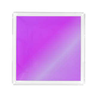Shaded Purple Wine Magenta Gradient Perfume Make U Acrylic Tray