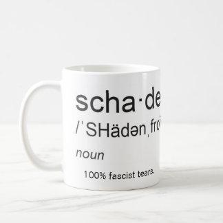 Shadenfreude, noun: 100% fascist tears coffee mug