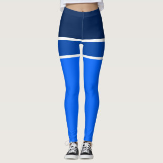 shades blue leggings