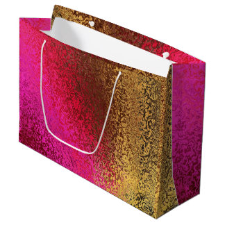 Shades in Purple and Gold Large Gift Bag