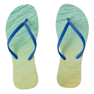 Shades of a lake flip flops