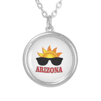 shades of arizona yeah silver plated necklace