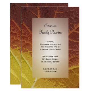 Shades of Autumn Family Reunion Invitation