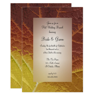 Shades of Autumn Post Wedding Brunch Invitation