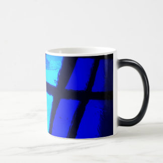 Shades of Azure Coffee Mug - Blue stained glass