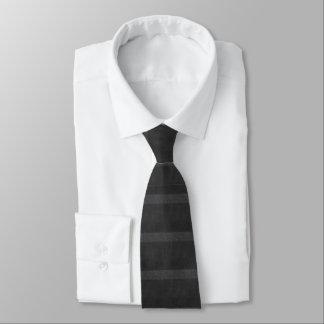 Shades of Black Horizontal Stripes Tie