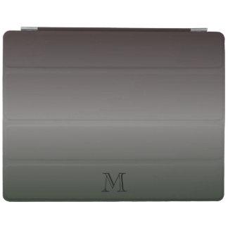 Shades Of Black Monogram iPad Cover