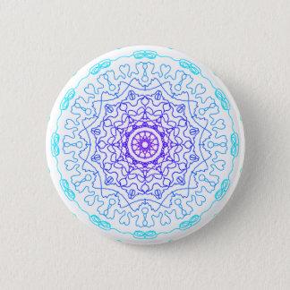 Shades of Blue 2 Inch Round Button