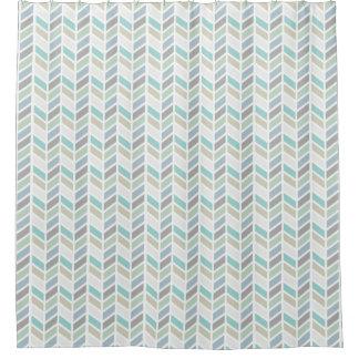 Shades of Blue and Gray Herringbone Pattern Design