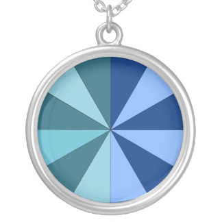 shades of blue and green silver plated necklace