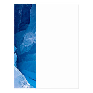 Shades of blue border template postcard