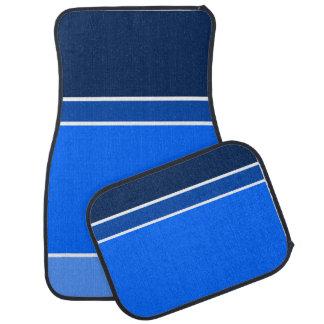 shades of blue car mat