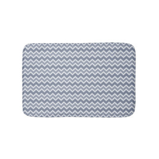 Shades of Blue Chevron Striped Bath Mats