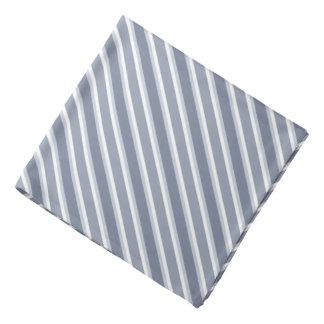 Shades of Blue Diagonal Stripes Bandana