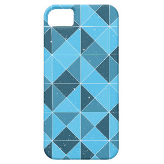 Shades of Blue Geometric Pattern iPhone 5 Cover
