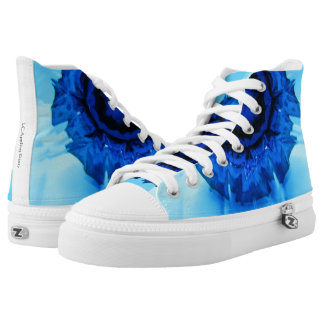 Shades of Blue High Top Shoes