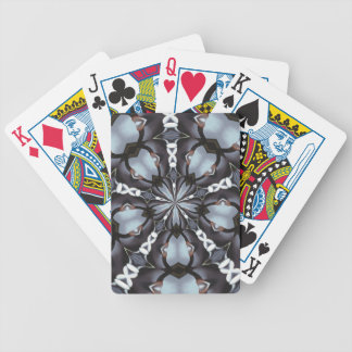 Shades of Blue Kaleidoscope Bicycle Playing Cards