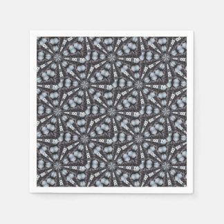 Shades of Blue Kaleidoscope Disposable Napkin