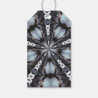 Shades of Blue Kaleidoscope Gift Tags