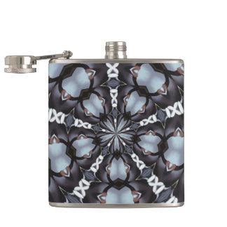 Shades of Blue Kaleidoscope Hip Flask