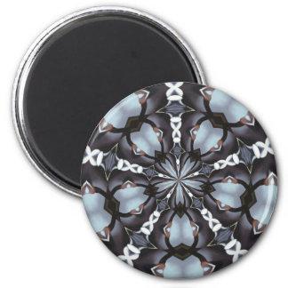 Shades of Blue Kaleidoscope Magnet