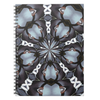 Shades of Blue Kaleidoscope Notebook